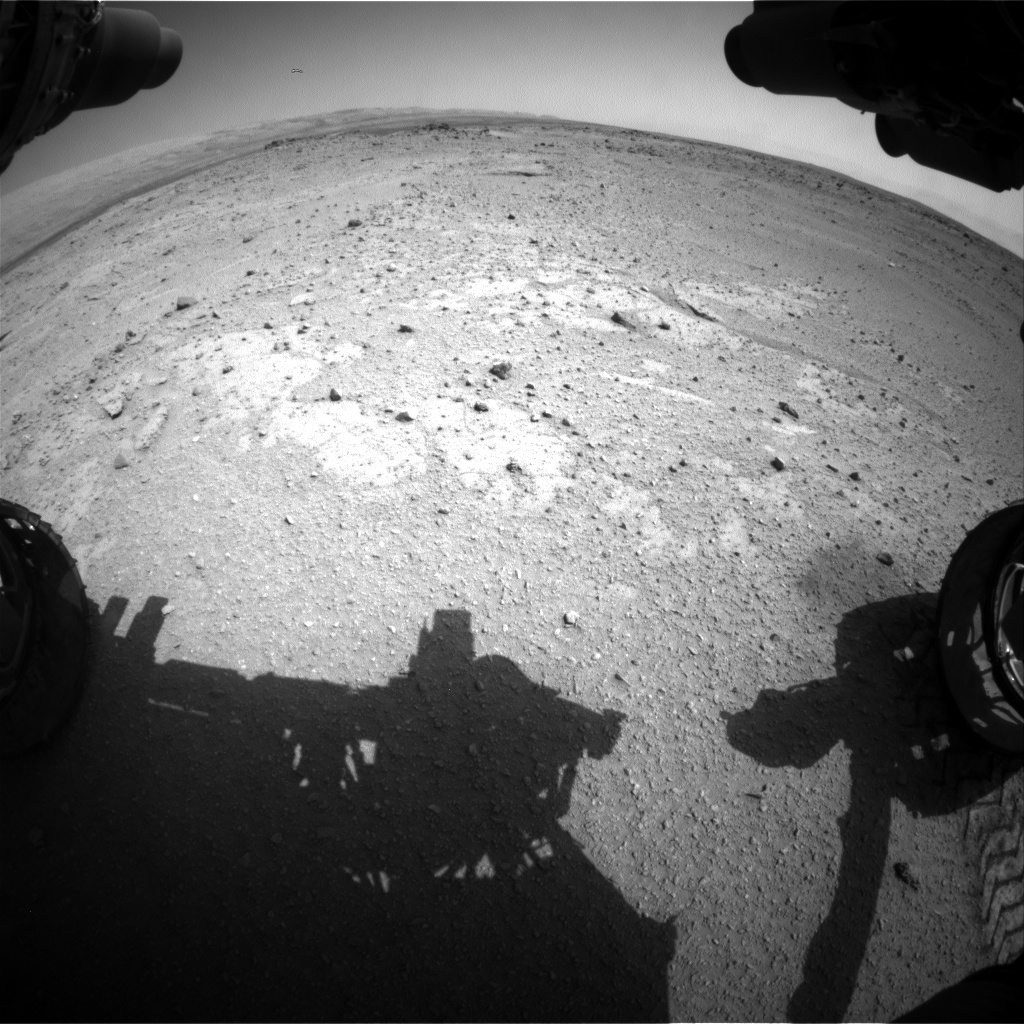 Nasa's Mars rover Curiosity acquired this image using its Front Hazard Avoidance Camera (Front Hazcam) on Sol 407, at drive 0, site number 17