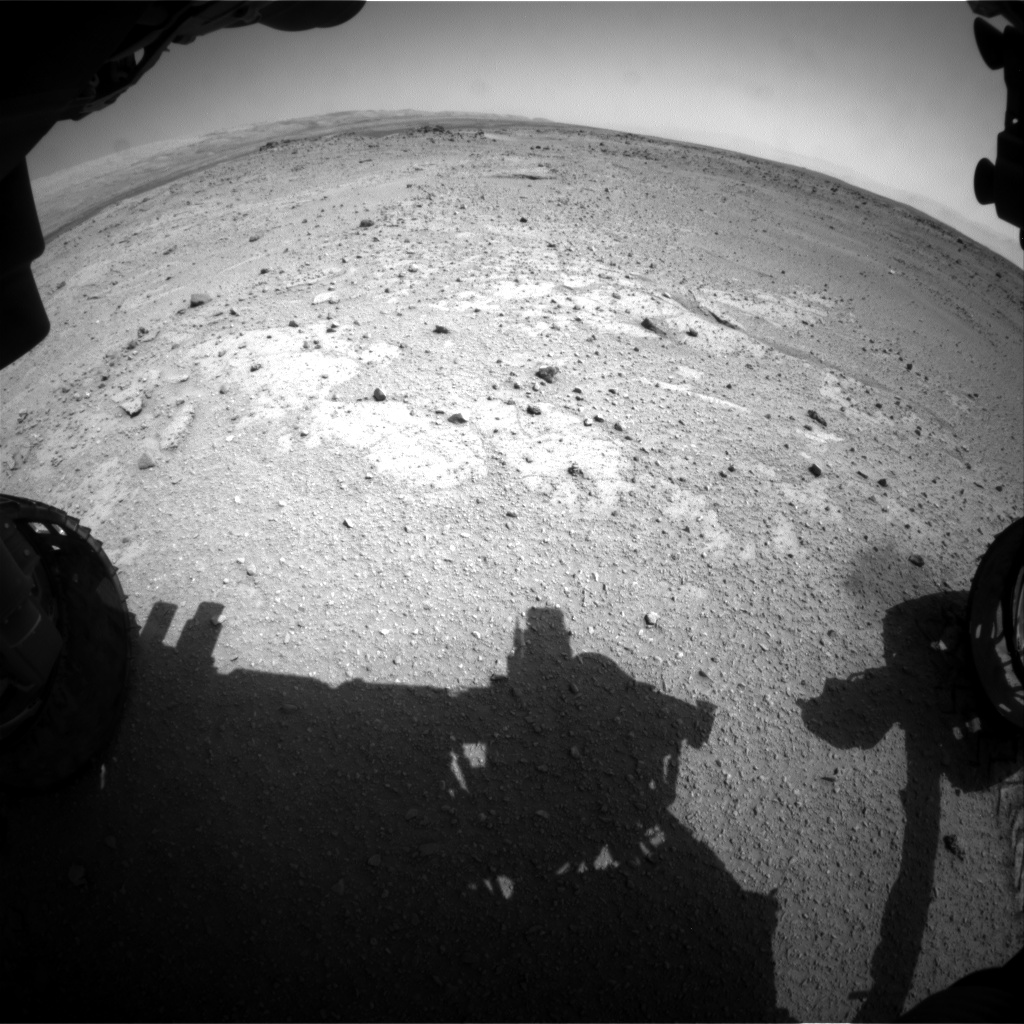 Nasa's Mars rover Curiosity acquired this image using its Front Hazard Avoidance Camera (Front Hazcam) on Sol 408, at drive 0, site number 17