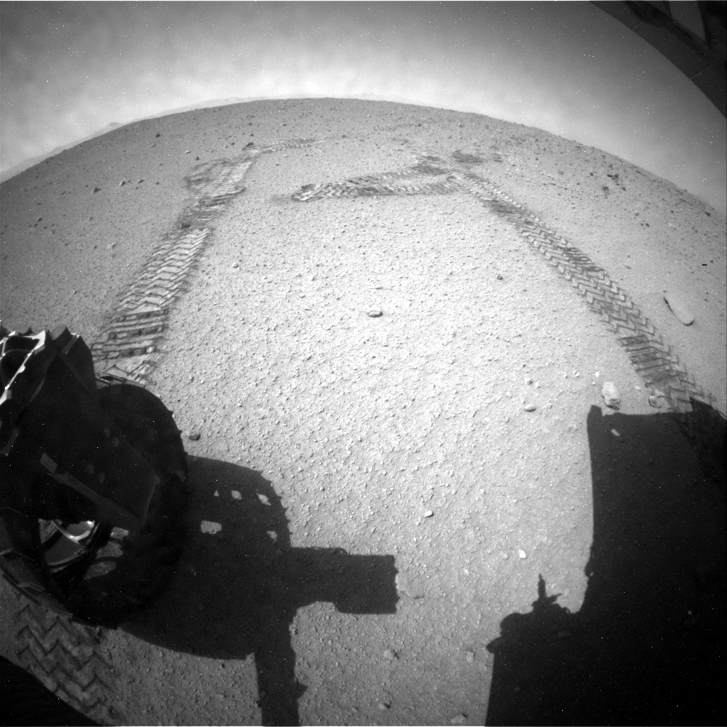 NASA's Mars rover Curiosity acquired this image using its Rear Hazard Avoidance Cameras (Rear Hazcams) on Sol 408