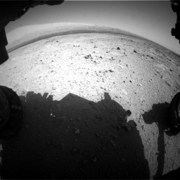 Nasa's Mars rover Curiosity acquired this image using its Front Hazard Avoidance Camera (Front Hazcam) on Sol 409, at drive 108, site number 17