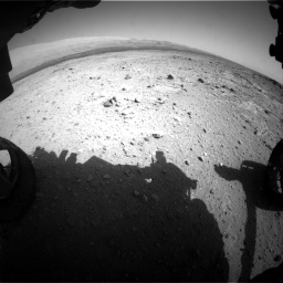 Nasa's Mars rover Curiosity acquired this image using its Front Hazard Avoidance Camera (Front Hazcam) on Sol 409, at drive 114, site number 17