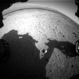 Nasa's Mars rover Curiosity acquired this image using its Front Hazard Avoidance Camera (Front Hazcam) on Sol 409, at drive 312, site number 17