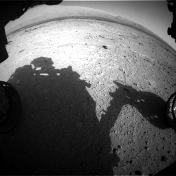 Nasa's Mars rover Curiosity acquired this image using its Front Hazard Avoidance Camera (Front Hazcam) on Sol 409, at drive 348, site number 17