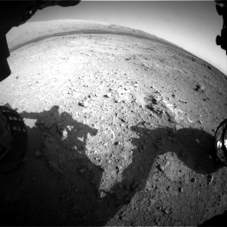 Nasa's Mars rover Curiosity acquired this image using its Front Hazard Avoidance Camera (Front Hazcam) on Sol 409, at drive 402, site number 17
