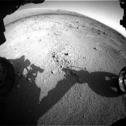 Nasa's Mars rover Curiosity acquired this image using its Front Hazard Avoidance Camera (Front Hazcam) on Sol 409, at drive 492, site number 17