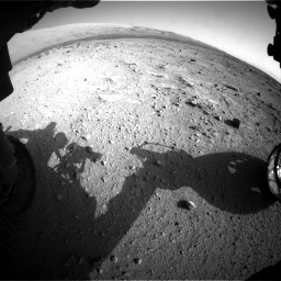 Nasa's Mars rover Curiosity acquired this image using its Front Hazard Avoidance Camera (Front Hazcam) on Sol 409, at drive 528, site number 17