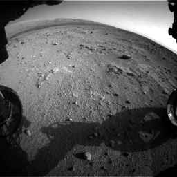 Nasa's Mars rover Curiosity acquired this image using its Front Hazard Avoidance Camera (Front Hazcam) on Sol 409, at drive 582, site number 17