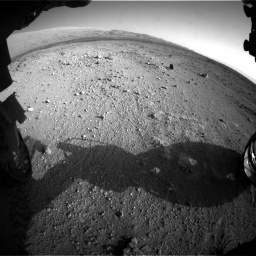 Nasa's Mars rover Curiosity acquired this image using its Front Hazard Avoidance Camera (Front Hazcam) on Sol 409, at drive 618, site number 17