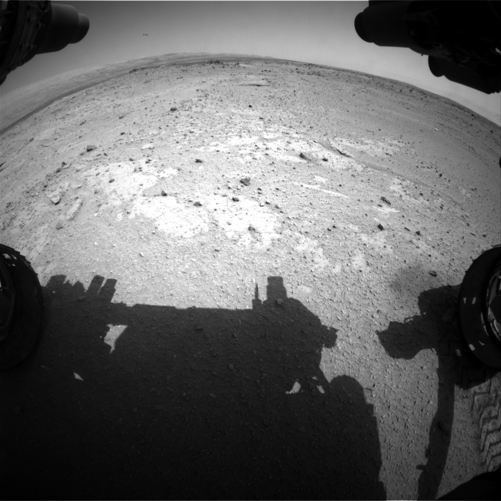 Nasa's Mars rover Curiosity acquired this image using its Front Hazard Avoidance Camera (Front Hazcam) on Sol 409, at drive 0, site number 17