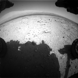 Nasa's Mars rover Curiosity acquired this image using its Front Hazard Avoidance Camera (Front Hazcam) on Sol 409, at drive 96, site number 17