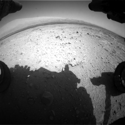 Nasa's Mars rover Curiosity acquired this image using its Front Hazard Avoidance Camera (Front Hazcam) on Sol 409, at drive 102, site number 17