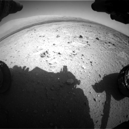 Nasa's Mars rover Curiosity acquired this image using its Front Hazard Avoidance Camera (Front Hazcam) on Sol 409, at drive 120, site number 17