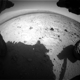 Nasa's Mars rover Curiosity acquired this image using its Front Hazard Avoidance Camera (Front Hazcam) on Sol 409, at drive 132, site number 17
