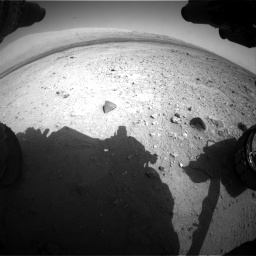 Nasa's Mars rover Curiosity acquired this image using its Front Hazard Avoidance Camera (Front Hazcam) on Sol 409, at drive 138, site number 17