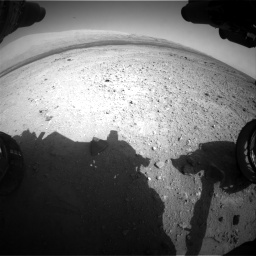 Nasa's Mars rover Curiosity acquired this image using its Front Hazard Avoidance Camera (Front Hazcam) on Sol 409, at drive 144, site number 17