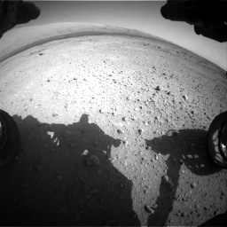 Nasa's Mars rover Curiosity acquired this image using its Front Hazard Avoidance Camera (Front Hazcam) on Sol 409, at drive 186, site number 17