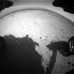Nasa's Mars rover Curiosity acquired this image using its Front Hazard Avoidance Camera (Front Hazcam) on Sol 409, at drive 204, site number 17