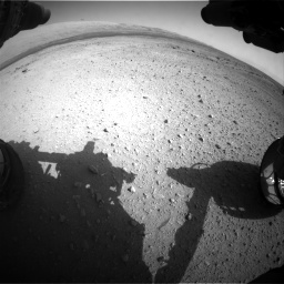 Nasa's Mars rover Curiosity acquired this image using its Front Hazard Avoidance Camera (Front Hazcam) on Sol 409, at drive 222, site number 17