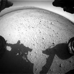 Nasa's Mars rover Curiosity acquired this image using its Front Hazard Avoidance Camera (Front Hazcam) on Sol 409, at drive 240, site number 17