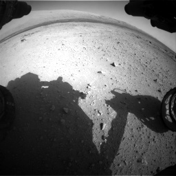 Nasa's Mars rover Curiosity acquired this image using its Front Hazard Avoidance Camera (Front Hazcam) on Sol 409, at drive 276, site number 17
