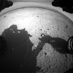 Nasa's Mars rover Curiosity acquired this image using its Front Hazard Avoidance Camera (Front Hazcam) on Sol 409, at drive 330, site number 17