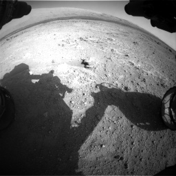 Nasa's Mars rover Curiosity acquired this image using its Front Hazard Avoidance Camera (Front Hazcam) on Sol 409, at drive 366, site number 17