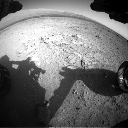 Nasa's Mars rover Curiosity acquired this image using its Front Hazard Avoidance Camera (Front Hazcam) on Sol 409, at drive 384, site number 17