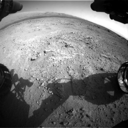 Nasa's Mars rover Curiosity acquired this image using its Front Hazard Avoidance Camera (Front Hazcam) on Sol 409, at drive 438, site number 17