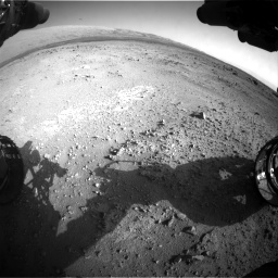 Nasa's Mars rover Curiosity acquired this image using its Front Hazard Avoidance Camera (Front Hazcam) on Sol 409, at drive 456, site number 17