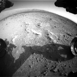 Nasa's Mars rover Curiosity acquired this image using its Front Hazard Avoidance Camera (Front Hazcam) on Sol 409, at drive 546, site number 17