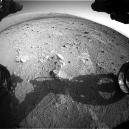 Nasa's Mars rover Curiosity acquired this image using its Front Hazard Avoidance Camera (Front Hazcam) on Sol 409, at drive 564, site number 17