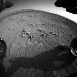 Nasa's Mars rover Curiosity acquired this image using its Front Hazard Avoidance Camera (Front Hazcam) on Sol 409, at drive 600, site number 17