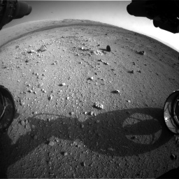 Nasa's Mars rover Curiosity acquired this image using its Front Hazard Avoidance Camera (Front Hazcam) on Sol 409, at drive 636, site number 17