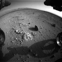 Nasa's Mars rover Curiosity acquired this image using its Front Hazard Avoidance Camera (Front Hazcam) on Sol 409, at drive 654, site number 17