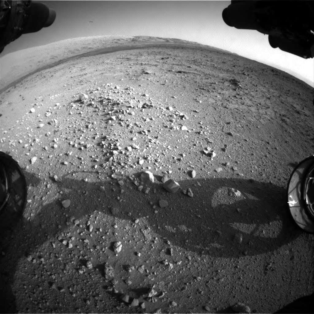 Nasa's Mars rover Curiosity acquired this image using its Front Hazard Avoidance Camera (Front Hazcam) on Sol 409, at drive 676, site number 17