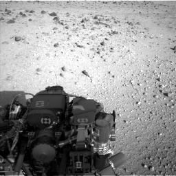 Nasa's Mars rover Curiosity acquired this image using its Left Navigation Camera on Sol 409, at drive 618, site number 17