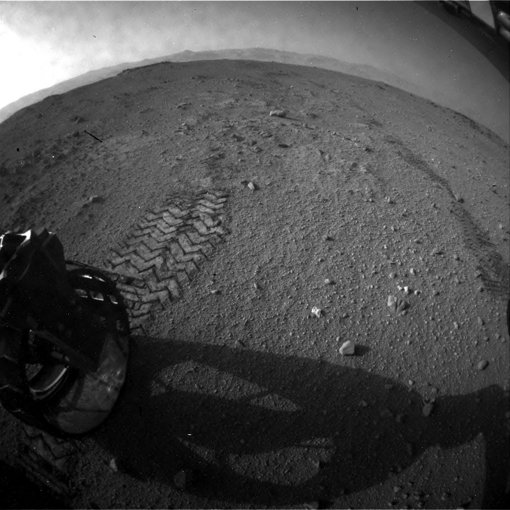 NASA's Mars rover Curiosity acquired this image using its Rear Hazard Avoidance Cameras (Rear Hazcams) on Sol 409