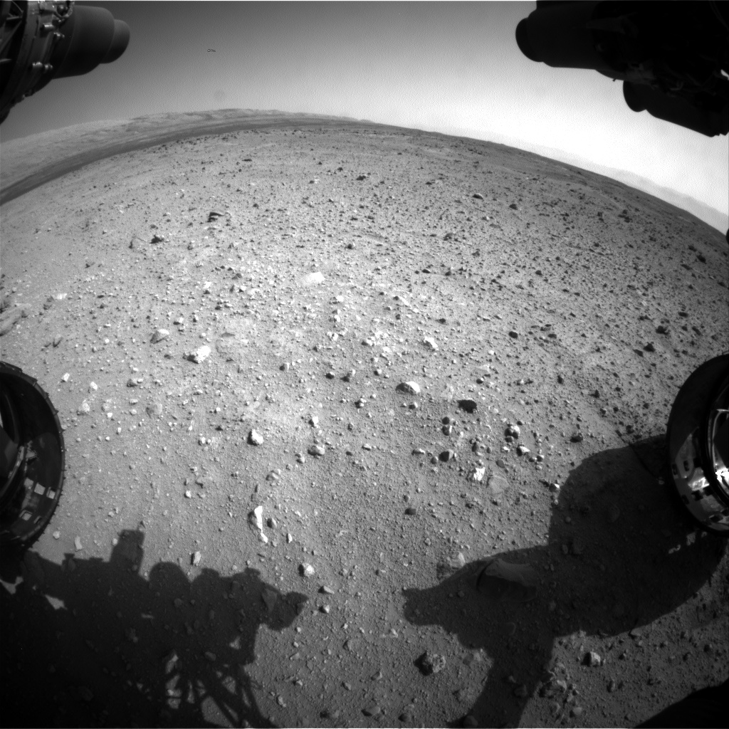 Nasa's Mars rover Curiosity acquired this image using its Front Hazard Avoidance Camera (Front Hazcam) on Sol 411, at drive 820, site number 17