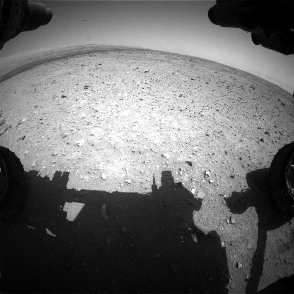 Nasa's Mars rover Curiosity acquired this image using its Front Hazard Avoidance Camera (Front Hazcam) on Sol 412, at drive 820, site number 17