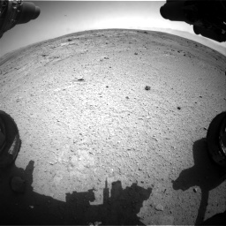 Nasa's Mars rover Curiosity acquired this image using its Front Hazard Avoidance Camera (Front Hazcam) on Sol 412, at drive 1120, site number 17