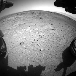 Nasa's Mars rover Curiosity acquired this image using its Front Hazard Avoidance Camera (Front Hazcam) on Sol 412, at drive 1174, site number 17