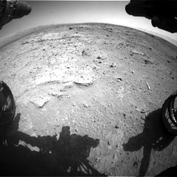 NASA's Mars rover Curiosity acquired this image using its Front Hazard Avoidance Cameras (Front Hazcams) on Sol 412