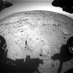 Nasa's Mars rover Curiosity acquired this image using its Front Hazard Avoidance Camera (Front Hazcam) on Sol 412, at drive 1210, site number 17