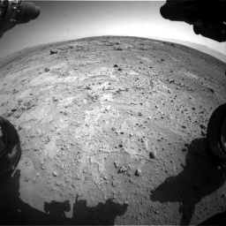 Nasa's Mars rover Curiosity acquired this image using its Front Hazard Avoidance Camera (Front Hazcam) on Sol 412, at drive 1228, site number 17