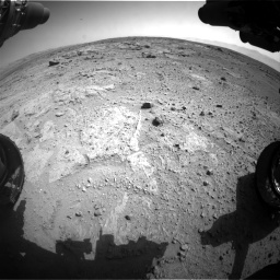 Nasa's Mars rover Curiosity acquired this image using its Front Hazard Avoidance Camera (Front Hazcam) on Sol 412, at drive 1246, site number 17
