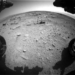 Nasa's Mars rover Curiosity acquired this image using its Front Hazard Avoidance Camera (Front Hazcam) on Sol 412, at drive 1282, site number 17
