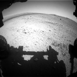 Nasa's Mars rover Curiosity acquired this image using its Front Hazard Avoidance Camera (Front Hazcam) on Sol 413, at drive 216, site number 18