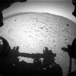 Nasa's Mars rover Curiosity acquired this image using its Front Hazard Avoidance Camera (Front Hazcam) on Sol 413, at drive 240, site number 18