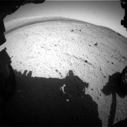 NASA's Mars rover Curiosity acquired this image using its Front Hazard Avoidance Cameras (Front Hazcams) on Sol 413