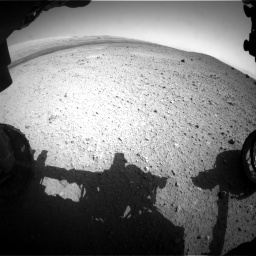 Nasa's Mars rover Curiosity acquired this image using its Front Hazard Avoidance Camera (Front Hazcam) on Sol 413, at drive 396, site number 18